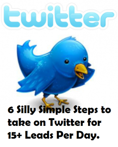 6 Silly Simple Steps to take on Twitter for 15+ Leads Per Day.